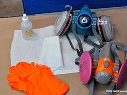 Очистка и уход за защитными полумасками
