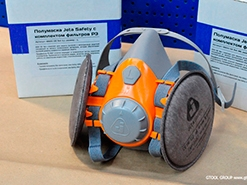 Набор для защиты дыхания Gtool. Полумаска Jeta Safety 6500 с комплектом фильтров Р3.
