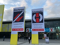 Выставка по обработке листового металла BlechExpo 2019. Штуттгарт. Германия.