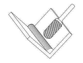 фото Борфреза GTOOL форма C цилиндр со сферическим концом, диаметр головки 8мм