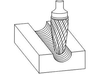 фото Борфреза GTOOL форма F парабола с закругленной головкой, диаметр головки 3мм