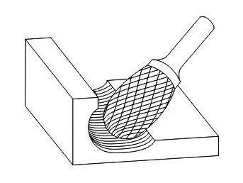 фото Борфреза GTOOL форма E овал, диаметр головки 8мм