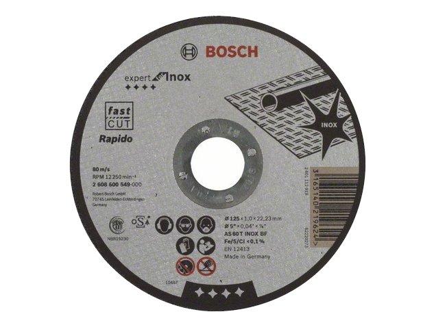 фото Отрезные круги Bosch Expert for Inox 125х1х22,23мм, 25шт