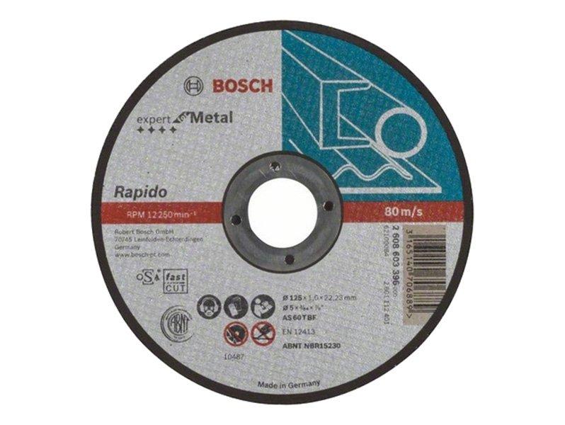 фото Отрезной круг по металлу Bosch Rapido 125х1х22,23мм, прямой, 25шт