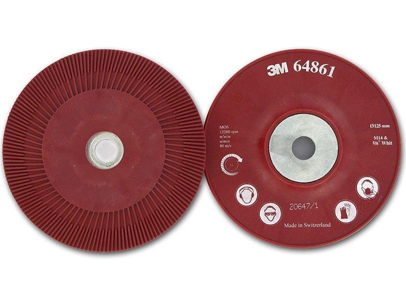 фото 3M™ Оправка для Фибровых Кругов, 125 мм х 22 мм, Ребристая, M14 и 5/8