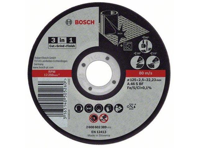 фото Круг отрезной Bosch «3-в-1», 25шт