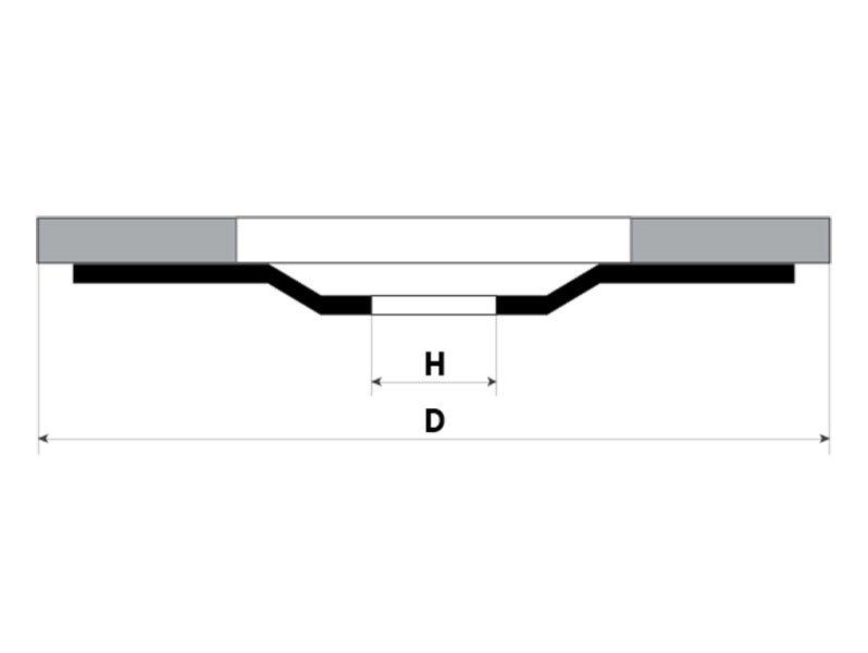 фото Круг лепестковый керамический d125мм, зерно Р40