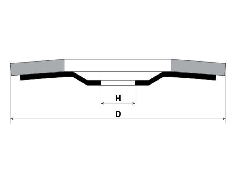 фото Круг лепестковый торцевой (КЛТ) стандарт, зерно Р80