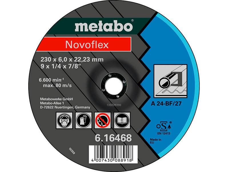 фото Обдирочный круг Metabo Novoflex 125x6x22,23мм, сталь, SF 27, 1уп.(25шт)