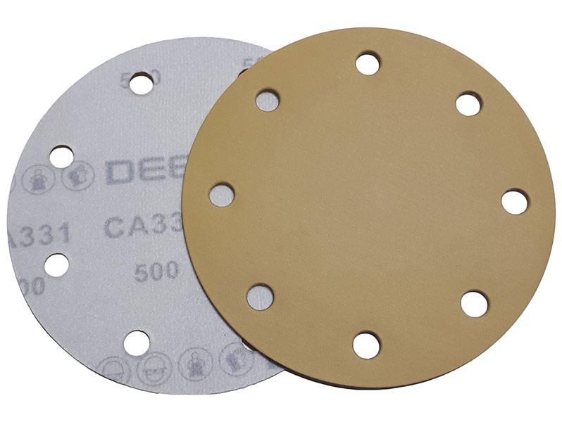 фото Абразивный круг DEERFOS СA331D d150мм, зерно P500 (8 отверстий)