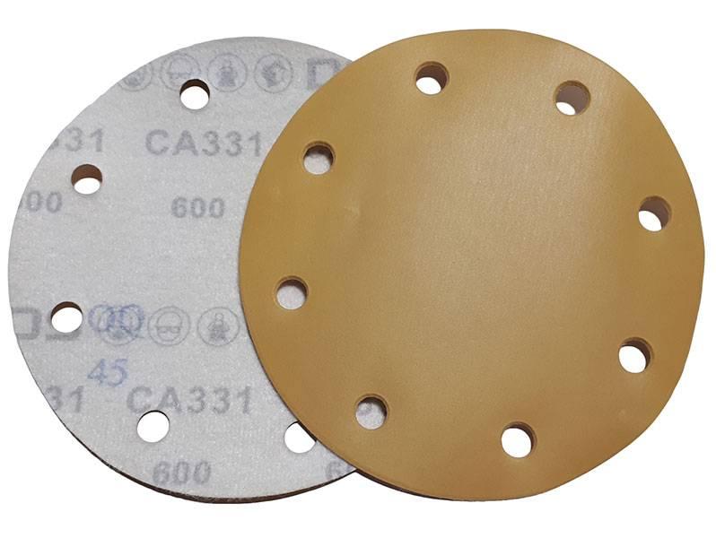 фото Абразивный круг DEERFOS СA331D d150мм, зерно P600 (8 отверстий)