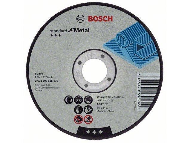 фото Отрезной диск прямой Bosch Standard for Metal d125мм, 25шт