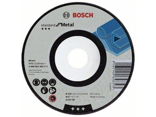 фото Обдирочный круг, выпуклый, Bosch Standard for Metal d125мм, 10шт