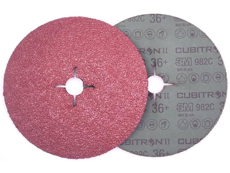 фото 3M™ Cubitron™  Фибровый Шлифовальный Круг 982С, 125 мм х 22 мм, 36+