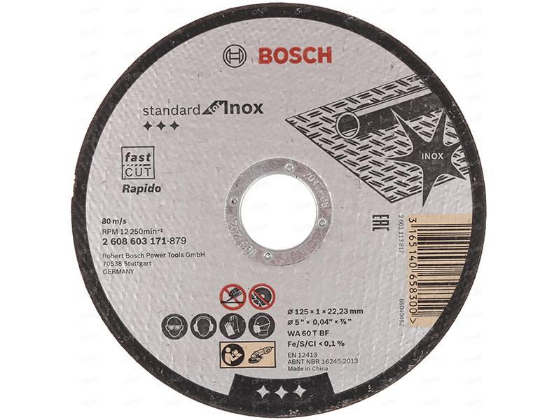 фото Отрезной круг, прямой, Bosch Standard for Inox Rapido 125х1х22,23мм, 25шт