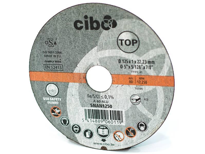 фото Отрезной круг по алюминию Cibo 125x1x22,2
