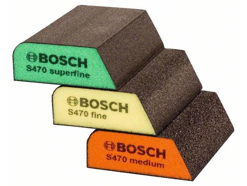 фото Набор шлифовальных губок Bosch 69x97x26, зернистости Medium (Р180-240)/Fine(Р220-320)/Super fine(Р320-500)