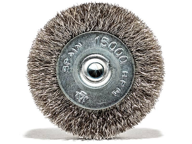 фото Щетка дисковая гофрированная 50x10 хв.6мм (нерж. 0,2)