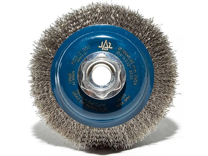 фото Щетка дисковая коническая d100мм*М14 (нерж. 0,3)