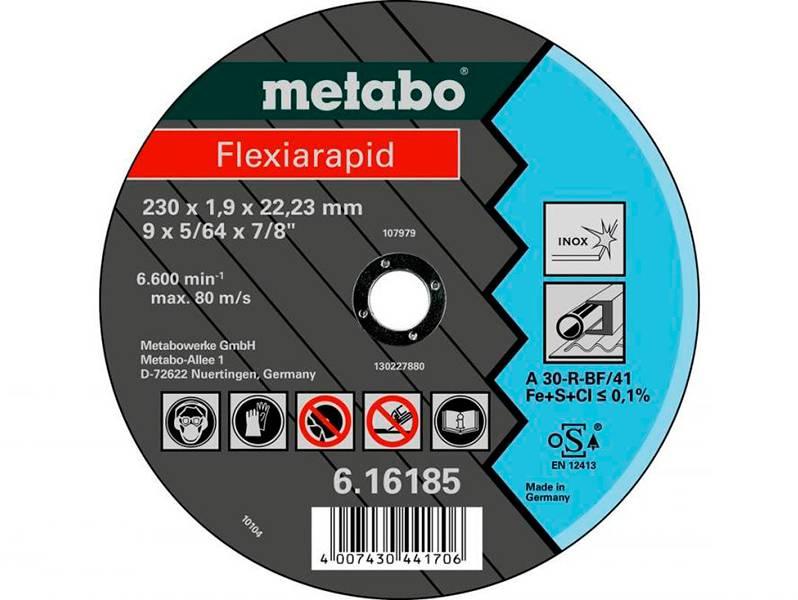 фото Отрезной круг Metabo Flexiarapid 125х1,0х22,23мм