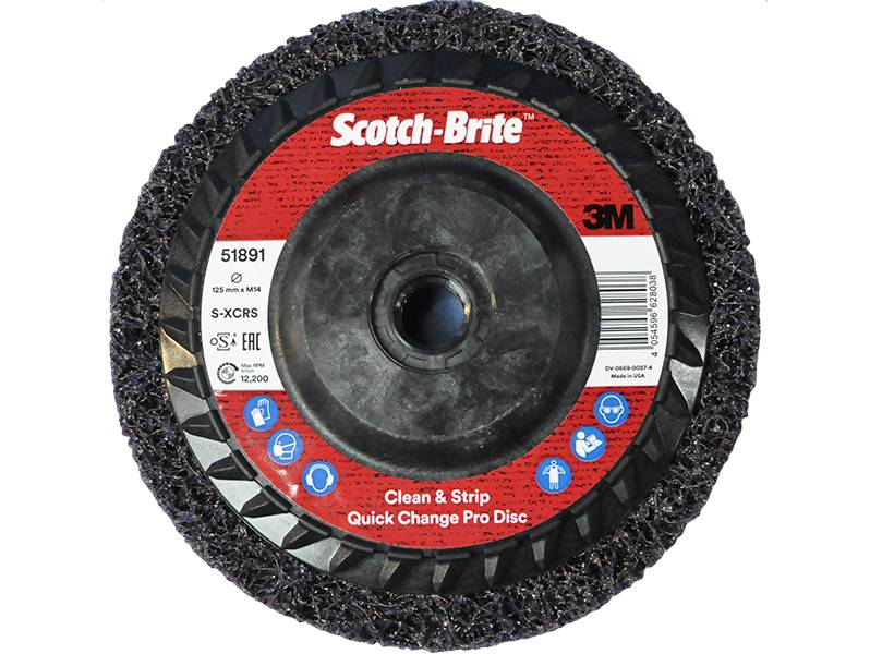 фото 3M™ Scotch-Brite™ Clean and Strip Pro XT-RD, S XCRS, 125мм*M14