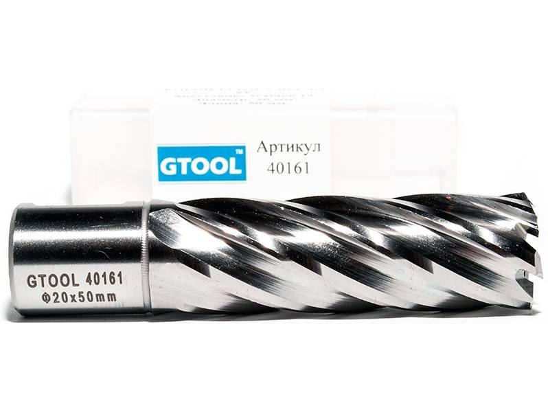 фото Корончатое сверло по металлу GTOOL G-Cut XE Weldon19 глубина 50/55мм, диаметр 20мм