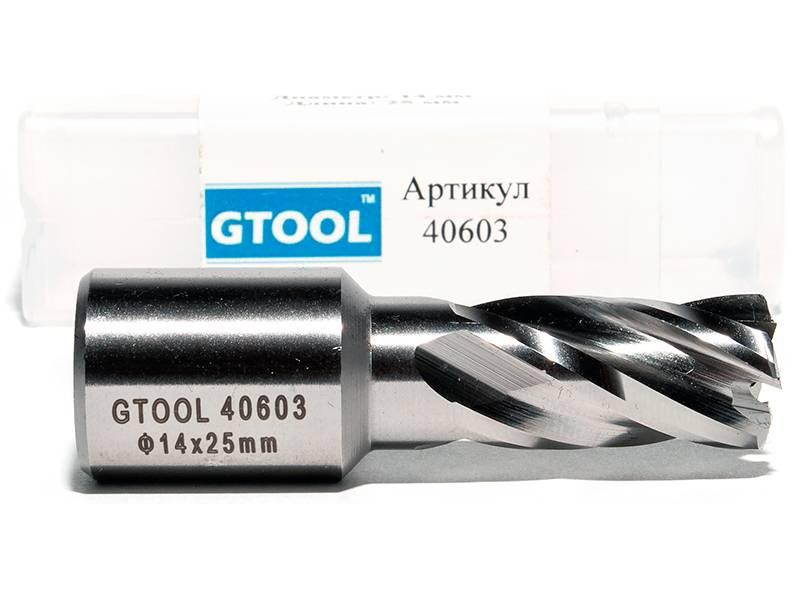 фото Корончатое сверло по металлу GTOOL G-Cut XE Weldon19, глубина 25/30мм, диаметр 14мм