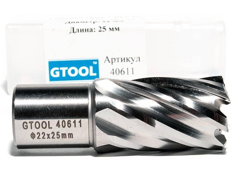 фото Корончатое сверло по металлу GTOOL G-Cut XE Weldon19, глубина 25/30мм, диаметр 22мм