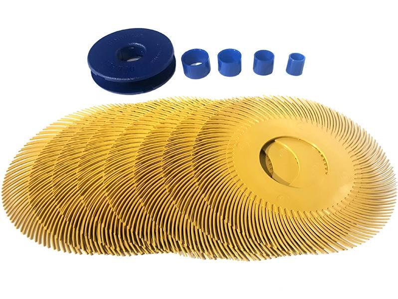 фото Круг Sunburst для удаления цвета побежалости P80 (желтый) d150мм
