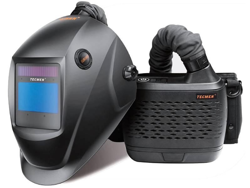 фото Сварочная маска с автоматическим светофильтром Tecmen ADF 815S TM16 с PAPR (внешн. кнопка зачистки)
