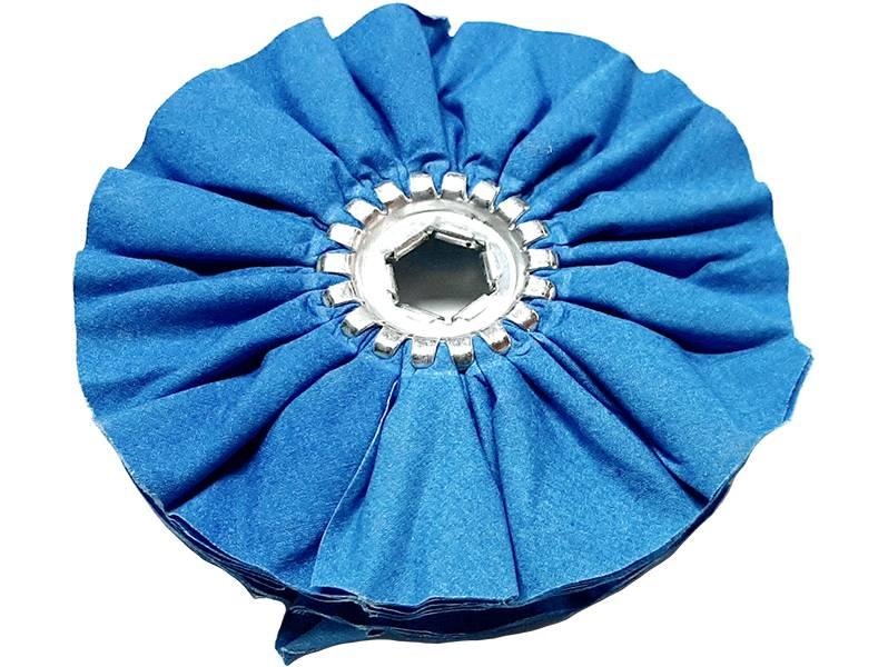 фото Круг полировальный хлопчатобумажный, средней жесткости, d150, синий