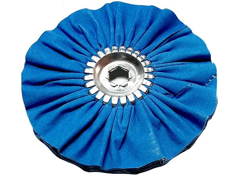 фото Круг полировальный хлопчатобумажный, средней жесткости, d200, синий