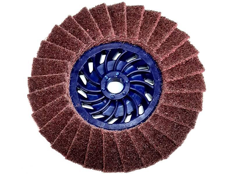 фото Круг лепестковый торцевой нетканый GTOOL d125, зерно Medium (P120)