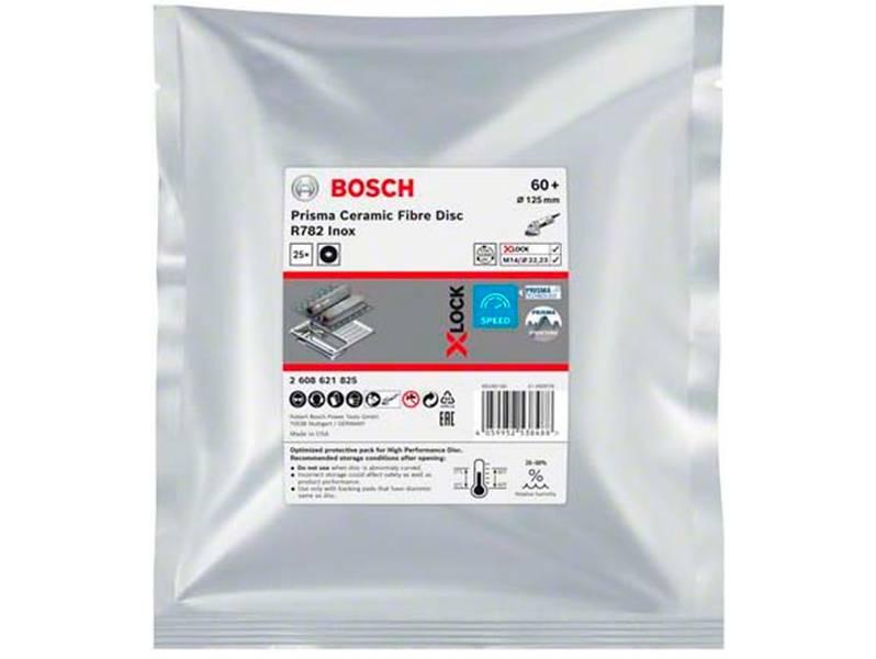 фото Фибровый шлифкруг Bosch X-LOCK Prisma Ceramic R782 Inox d125мм, зерно P60, уп-ка 25шт