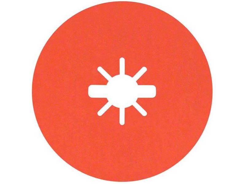 фото Фибровый шлифкруг Bosch X-LOCK Prisma Ceramic R782 Inox d125мм, зерно P120, уп-ка 25шт