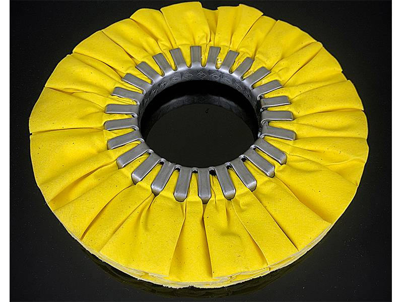 фото Круг полировальный хлопчатобумажный желтый d200*76*16