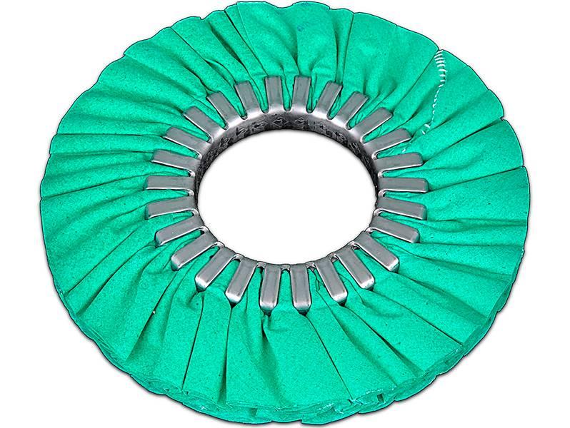 фото Круг полировальный хлопчатобумажный зеленый d200*76*16