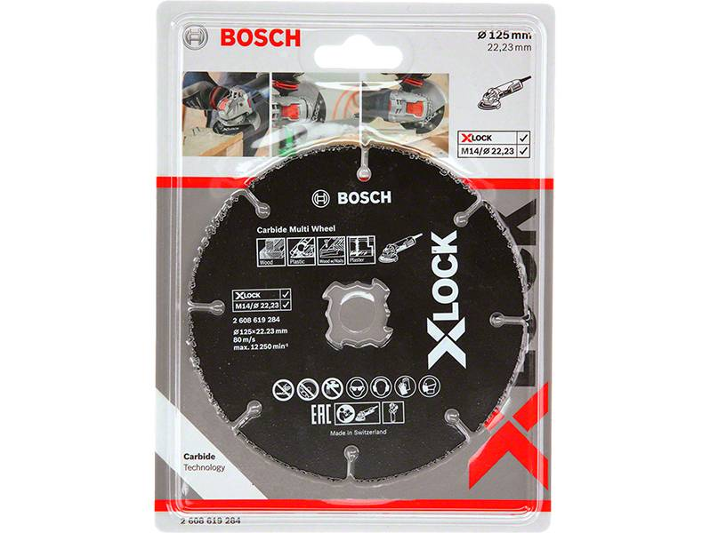 фото Твердосплавный диск Bosch X-LOCK Carbide Multi Wheel, 125мм