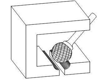 фото Борфреза GTOOL форма D сфера, диаметр головки 16мм