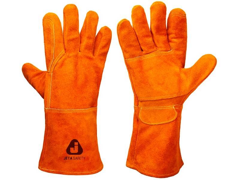 фото Перчатки сварщика Jeta Safety JWK201 Ferrus Light с крагой из спилковой кожи без подкладки, размер 10/XL