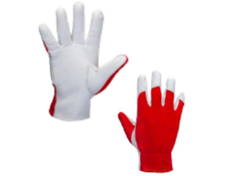 фото Кожаные рабочие перчатки Jeta Safety JLE301 Mechanic с тыльной стороной из хлопка, размер 9/L