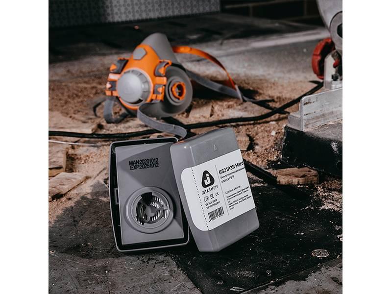 фото Фильтр Jeta Safety 6521P3R Hard противоаэрозольный класса P3 R закрытого типа в пластиковом корпусе, 2шт