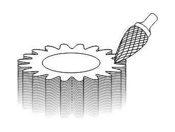 фото Борфреза GTOOL форма G парабола с заостренной головкой, диаметр головки 16мм