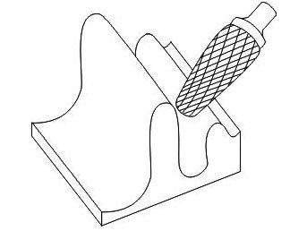 фото Борфреза GTOOL форма L конус с закруглённой головкой, диаметр головки 16мм