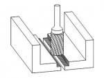 фото Борфреза GTOOL форма B цилиндр с торцовыми зубьями, диаметр головки 10мм