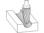 фото Борфреза GTOOL форма F парабола с закругленной головкой, диаметр головки 6мм