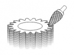 фото Борфреза GTOOL форма G парабола с заостренной головкой, диаметр головки 3мм