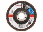 фото Лепестковый шлифкруг Bosch X571, Best for Metal d125мм, зерно P60 прямой, 10шт