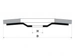 фото Круг лепестковый торцевой (КЛТ) стандарт, зерно Р120