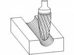 фото Борфреза GTOOL форма F парабола с закругленной головкой, диаметр головки 16мм